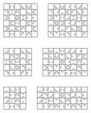 Seis rompecabezas blancos Foto de archivo