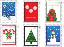 Seis selos do Natal Imagens de Stock Royalty Free