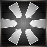 Seis setas Imagem de Stock
