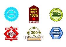 Seis sinais da garantia Fotografia de Stock