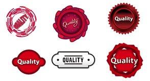 Seis sinais do vermelho da qualidade Foto de Stock Royalty Free