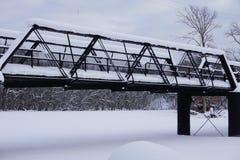 Seis Stringer Bridge Near New Richmond, MI imagens de stock