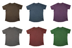 Seis t-shirt Imagens de Stock Royalty Free