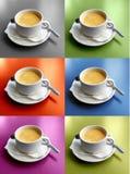 Seis tazas de café Imagen de archivo libre de regalías