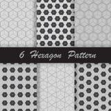 Seis testes padrões do hexágono Imagem de Stock Royalty Free