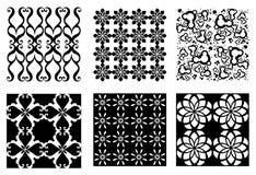 Seis testes padrões do vetor Fotografia de Stock Royalty Free