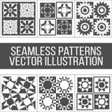 Seis testes padrões geométricos sem emenda Imagens de Stock Royalty Free