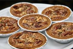 Seis tortas de Pecan Foto de Stock Royalty Free