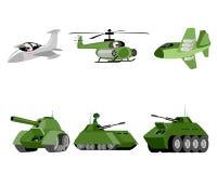Seis veículos militares Foto de Stock