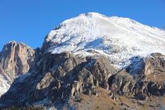 Seiser Alm con il gruppo di Langkofel Il Tirolo del sud Immagine Stock Libera da Diritti