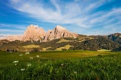 Seiser Alm em Tirol sul fotografia de stock