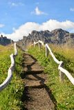 Hiking path in Italian dolomites Royalty Free Stock Images