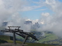 Seiser Alm viewed from Ciampinoi, Dolomiti. Royalty Free Stock Photo
