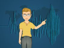 Seismic activity. Cute illustration of seismic activity Royalty Free Stock Photos