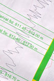 Seismic data. Printout of seismic and other logged data for oil well Royalty Free Stock Image