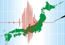 Seismic problems in japan. As nice background Stock Image