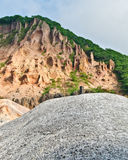 Seismically active valley in Hokkaido, Japan Stock Image