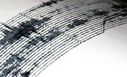Seismogramm Stockfoto