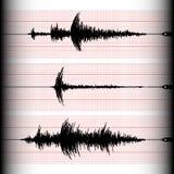 Seismogrammaufnahme Lizenzfreie Stockfotos