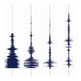 Seismogramvågtryck Royaltyfri Bild