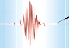 Seismograph background. Seismograph paper as nice alert scientific background Stock Photos