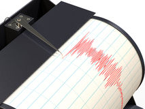 Seismograph instrument recording Royalty Free Stock Image