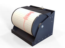 Seismograph instrument recording. Ground motion during earthquake Royalty Free Stock Photo