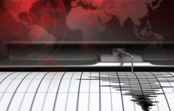 Seismograph with paper Stock Photos