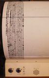 Seismograph Readings. On Old Machine Stock Image