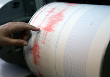 Seismological device Royalty Free Stock Images
