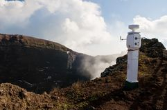 Seismological monitor on Vesuvius Royalty Free Stock Photo