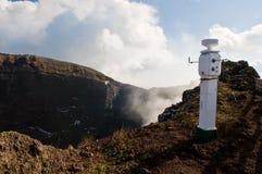 Seismological monitor on Vesuvius. Seismological earthquake monitoring station on volcano Vesuvio, Italy Royalty Free Stock Photo