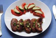 Seitan com vegetais Foto de Stock