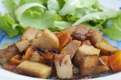 Seitan e salada Foto de Stock