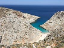 Seitan Limani Απίστευτες παραλίες ομορφιάς της Κρήτης Στοκ Εικόνες