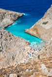 Seitan limania or Agiou Stefanou, the heavenly beach with turquoise water. Chania, Crete, Greece Royalty Free Stock Image
