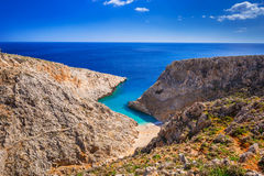 Seitan limania beach on Crete Stock Images