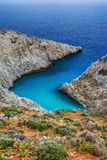 Seitan limania or Stefanou beach, Crete Royalty Free Stock Image