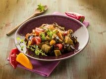 Seitan stew with eggplant