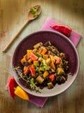 Seitan stew with eggplant Royalty Free Stock Image