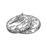 seitan Vector l'illustrazione incisa annata nera isolata su fondo bianco Fotografie Stock Libere da Diritti