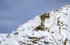 Seite der großen Höhe der Alpe Gebirgs Stockbilder