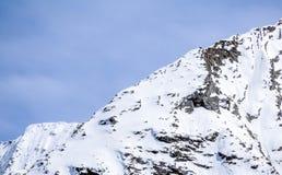 Seite der großen Höhe der Alpe Gebirgs Lizenzfreies Stockbild