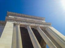 Seite der korinthischen Säulen des Altars des Vaterlands in Rom - Italien Lizenzfreie Stockbilder