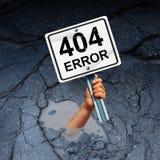 Seite des Fehlers 404 nicht gefunden Lizenzfreies Stockbild