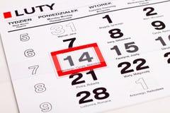 Seite des Kalenders Lizenzfreie Stockfotos