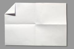 Seite des Weißbuches Stockfotografie