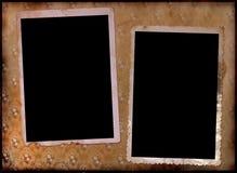 Seite eines Weinlesefotoalbums. Lizenzfreie Stockbilder