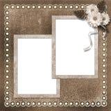 Seite für Foto oder Einladung stock abbildung