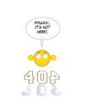 Seite 404 nicht gefunden Lizenzfreies Stockbild